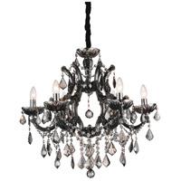 CWI Lighting 8415P26C-6-(SMOKE) Dianna 6 Light 26 inch Chrome Chandelier Ceiling Light