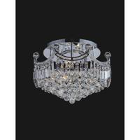 CWI Lighting 8421C20C Amanda 6 Light 20 inch Chrome Flush Mount Ceiling Light