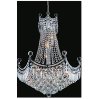 CWI Lighting 8421P18C Amanda 10 Light 18 inch Chrome Chandelier Ceiling Light