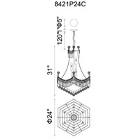 CWI Lighting 8421P24C Amanda 11 Light 24 inch Chrome Chandelier Ceiling Light