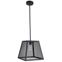 CWI Lighting 9601P12-1-101-A Macleay 1 Light 12 inch Black Pendant Ceiling Light