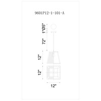 CWI Lighting 9601P12-1-101 Alyson 1 Light 12 inch Black Pendant Ceiling Light