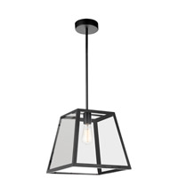 CWI Lighting 9601P12-1-101 Alyson 1 Light 12 inch Black Pendant Ceiling Light