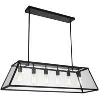 CWI Lighting 9601P42-6-101 Alyson 6 Light 42 inch Black Chandelier Ceiling Light