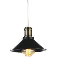 CWI Lighting 9605P8-1-101 Brave 1 Light 8 inch Black Pendant Ceiling Light