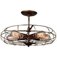 Pamela 5 Light 19 inch Antique Copper Flush Mount Ceiling Light