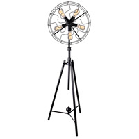Pamela 68 inch 60 watt Black Floor Lamp Portable Light