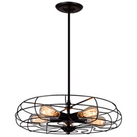 CWI Lighting 9606P18-5-101 Pamela 5 Light 18 inch Black Chandelier Ceiling Light