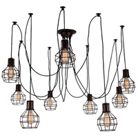 CWI Lighting 9608P31-9-126 Secure 9 Light 30 inch Chocolate Chandelier Ceiling Light