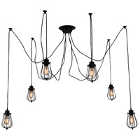 CWI Lighting 9610P28-6-101 Tomaso 6 Light 28 inch Black Chandelier Ceiling Light