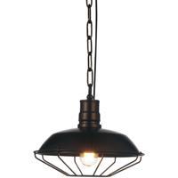 CWI Lighting 9611P11-1-126 Morgan 1 Light 11 inch Chocolate Pendant Ceiling Light