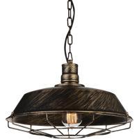 CWI Lighting 9611P14-1-128 Morgan 1 Light 14 inch Antique Copper Pendant Ceiling Light