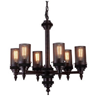 CWI Lighting 9616P27-6-130 Vivian 6 Light 27 inch Rust Pendant Ceiling Light