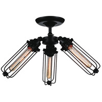 CWI Lighting 9624C23-3-101 Benji 3 Light 23 inch Black Flush Mount Ceiling Light
