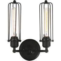 CWI Lighting 9624W10-2-101 Benji 2 Light 5 inch Black Wall Sconce Wall Light