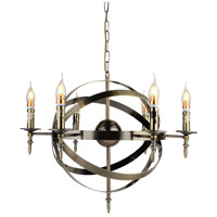 CWI Lighting 9634P25-6-604 Troy 6 Light 25 inch Antique Bronze Chandelier Ceiling Light