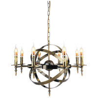 CWI Lighting 9634P28-8-604 Troy 8 Light 28 inch Antique Bronze Chandelier Ceiling Light