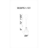 CWI Lighting 9636P8-1-101 Bora 1 Light 8 inch Black Pendant Ceiling Light