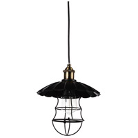 CWI Lighting 9640P14-1-101 Amur 1 Light 14 inch Black Pendant Ceiling Light