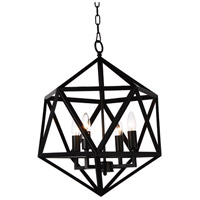 CWI Lighting 9641P17-3-101 Amazon 3 Light 17 inch Black Chandelier Ceiling Light