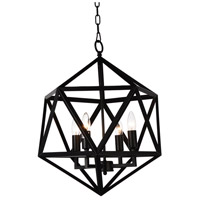 CWI Lighting 9641P20-4-101 Amazon 4 Light 20 inch Black Chandelier Ceiling Light
