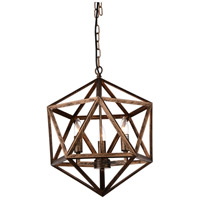 CWI Lighting 9641P20-4-128 Amazon 4 Light 20 inch Antique Forged Copper Chandelier Ceiling Light
