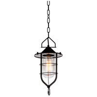 CWI Lighting 9642P7-1-101 Rhine 1 Light 7 inch Black Pendant Ceiling Light
