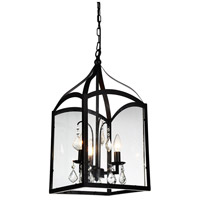 CWI Lighting 9644P11-3-101 Save 3 Light 11 inch Black Pendant Ceiling Light