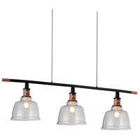 CWI Lighting 9649P47-3-SMOKE Tower Bell 3 Light 47 inch Smoke Pendant Ceiling Light