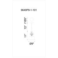 Tower Bell 1 Light 9 inch Blue Pendant Ceiling Light