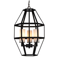 CWI Lighting 9668P14-3-S-101 Cell 3 Light 14 inch Black Pendant Ceiling Light