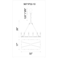 Ganges 10 Light 17 inch Brown Chandelier Ceiling Light