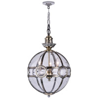 CWI Lighting 9696P14-3-604 Beas 3 Light 14 inch Antique Brass Mini Pendant Ceiling Light