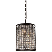 CWI Lighting 9697P17-6-192 Meghna 6 Light 17 inch Brown Chandelier Ceiling Light