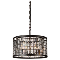 CWI Lighting 9697P20-6-192 Meghna 6 Light 20 inch Brown Chandelier Ceiling Light