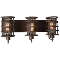 CWI Lighting 9700W24-3-197 Darya 3 Light 8 inch Brown Wall Sconce Wall Light