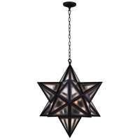 CWI Lighting 9708P20-3-101 Astoria 3 Light 20 inch Black Pendant Ceiling Light