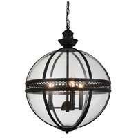 CWI Lighting 9714P17-3-101 Lune 3 Light 17 inch Black Chandelier Ceiling Light