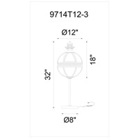 Lune 32 inch 40 watt Black Table Lamp Portable Light