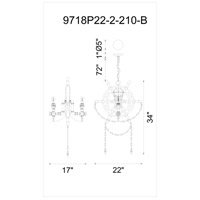 Manor 2 Light 22 inch Speckled Copper Chandelier Ceiling Light