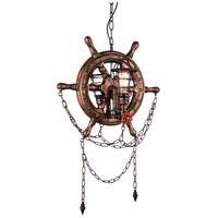CWI Lighting 9718P22-2-210-B Manor 2 Light 22 inch Speckled Copper Chandelier Ceiling Light