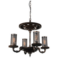 CWI Lighting 9720P30-4-211 Manchi 4 Light 30 inch Rust Up Chandelier Ceiling Light