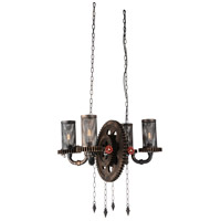 CWI Lighting 9722P25-4-211 Manchi 4 Light 25 inch Rust Up Chandelier Ceiling Light