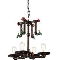CWI Lighting 9724P23-4-210 Soto 4 Light 23 inch Speckled Copper Chandelier Ceiling Light
