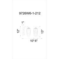 CWI Lighting 9726W6-1-212 Union 1 Light 9 inch Blackened Bronze Wall Sconce Wall Light
