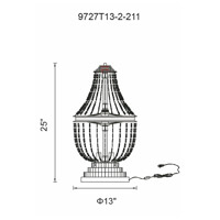 Kala 25 inch 60 watt Antique Bronze Table Lamp Portable Light