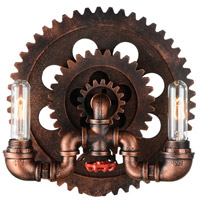 Manchi 2 Light 9 inch Blackened Red Wall Sconce Wall Light
