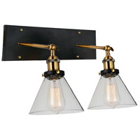 Black and Gold Metal Wall Sconces