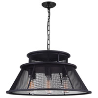 Savill 7 Light 26 inch Reddish Black Chandelier Ceiling Light