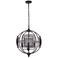 CWI Lighting 9746P28-9-219 Alistaire 9 Light 28 inch Reddish Black Chandelier Ceiling Light